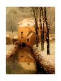 The Canal in Winter, 1901 Giclee Print by Henri Eugene Augustin Le Sidaner