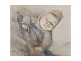 French War Orphan in Penmarch, Brittany Giclee Print by Elizabeth Nourse