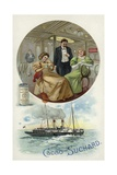 Enjoying Suchard Cocoa on Board a Ship Giclee Print