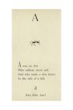 Der Buchstabe A Giclée-Druck von Edward Lear