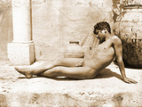 Reclining Nude Boy, C.1898 Photographic Print by Wilhelm Von Gloeden