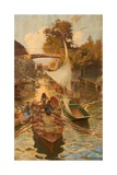 A Study of Boulter's Lock, Maidenhead, Berkshire Giclee Print by Edward John Gregory