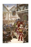 Sir Richard Whittington Distibuting Charity Giclee Print by Henrietta Rae