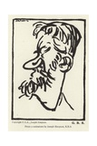 Caricature of George Bernard Shaw Giclee Print by Joseph Simpson