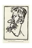 Caricature of George Bernard Shaw Giclee Print by Joseph Simpson