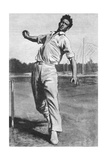 Brian Statham, Captain of Lancashire Cricket Club Giclee Print by Ralph Bruce