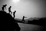 Jump! Laos, 2011 Photographic Print by Shaun Taylor McManus