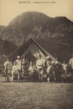 Abyssinia - Traveller in Front of His Tent Fotografie-Druck