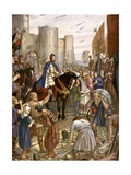 William Rufus at the Tower of London Giclee Print by Charles Goldsborough Anderson