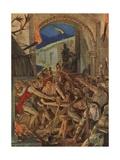 The Feast of Robert De Comines' Men at Durham Giclee Print by Richard Caton Woodville II