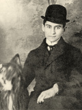 Franz Kafka with His Dog, 1910 Photographic Print