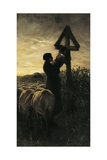 Kiss Cross Giclee Print by Giovanni Segantini