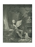 Sir Walter Scott at Abbotsford Giclee Print by Sir William Allan