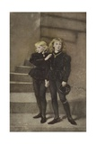 The Two Princes Edward and Richard in the Tower Giclee Print by John Everett Millais