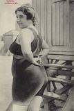 Woman in a Bathing Costume, Oostende, Belgium Photographic Print