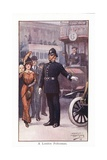 A London Policeman Giclee Print by Ernest Ibbetson