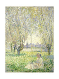 Woman Seated under the Willows, 1880 Giclee Print by Claude Monet