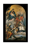Madonna and Child with Three Saints Giclee Print by Carlo Maratti