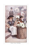 Flower Girls, Piccadilly Giclee Print by Ernest Ibbetson