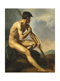 Nude Warrior with a Spear, C.1816 Giclee Print by Théodore Géricault
