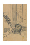Study of a Man Holding a Double Bass Giclee Print by Walter Richard Sickert