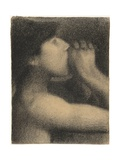 Echo, Study for ' Bathers at Asnieres', 1883-4 Giclee Print by Georges Seurat