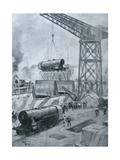 Locomotives, 1914-18 Giclee Print by Henri Rudaux