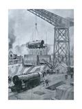 Locomotives, 1914-18 Giclee Print by Henri Rudaux