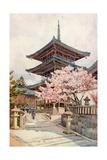 The Pagoda, Kyomidzu Giclee Print by Ella Du Cane