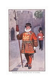Yeoman of the Guard, Tower of London Giclee Print by Ernest Ibbetson