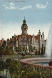 Postcard Depicting the Town Hall in Leipzig Photographic Print