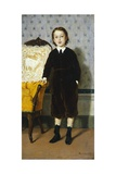 Portrait of Boy Standing Giclee Print by Odoardo Borrani
