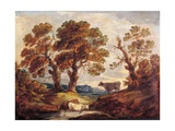 Wooded Landscape with Cows, C.1795 Giclee Print by Gainsborough Dupont