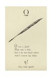 The Letter Q Giclée-Druck von Edward Lear
