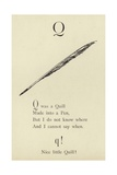 The Letter Q Giclee Print by Edward Lear