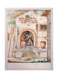 Bertoldo Hidden Inside the Oven Giclee Print by Giuseppe Maria Crespi