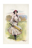 Portrait of a Woman Cricketer Giclee Print