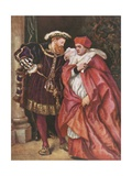 Henry VIII and Cardinal Wolsey Giclee Print by Sir John Gilbert