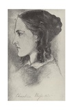 Christina Rossetti, English Poet Giclee Print by Dante Gabriel Rossetti