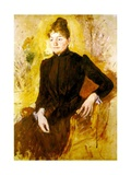 Young Woman in Black, C.1882 Giclee Print by Mary Stevenson Cassatt
