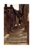 Road in Palestrina Giclee Print by Vincenzo Cabianca