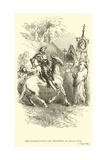 Don Quixote Stops the Procession of Disciplants Giclee Print by Sir John Gilbert