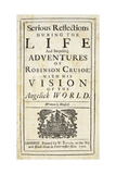 Robinson Crusoe, Novel by Daniel Defoe Giclee Print
