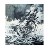 Destruction of the Eddystone Lighthouse, 1703 Giclee Print by Graham Coton