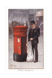 Postman - Clearing Box Giclee Print by Ernest Ibbetson