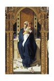 Tryptych of Madonna of Roses Giclee Print by Domenico Morelli