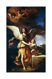 Guardian Angel, 1641 Giclee Print by  Guercino