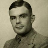 Portrait of Alan Mathison Turing Papier Photo