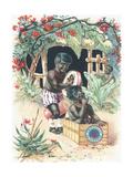 Advertisement for Suchard Chocolate Giclee Print