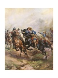 Prince Rupert's Cavalry Charge at Edgehill, 1642 Giclee Print by Henry Payne